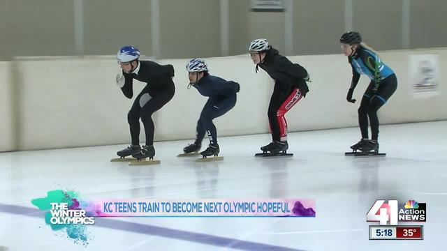 Kansas City teens train with hopes of making it to the Olympics in Speed Skating