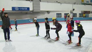 Julia Mancuso tries speed skating