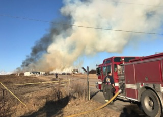 Mulch fire expected to burn for days