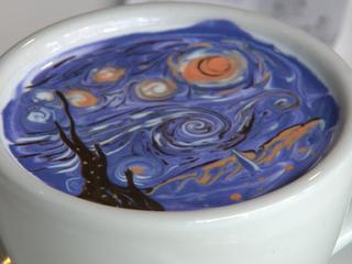 Mancuso visits café known for its latte art