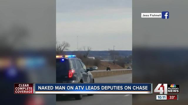 KC police chase naked man riding ATV for an hour
