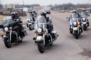 PICS: Ofc. Morton procession arrives in Clinton