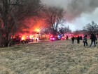 Smoke seen for miles as building burns in KCMO