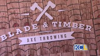 Give an axe a throw at Blade and Timber