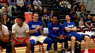 KU basketball seniors play in Barnstormer game