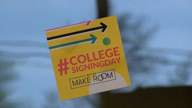 School holds college signing day for all students