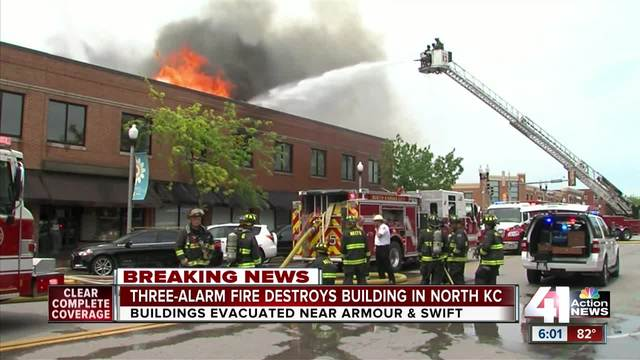 Discarded cigarette caused massive fire in North Kansas City office building