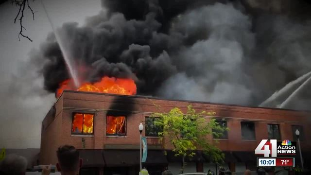 Three-alarm fire envelops KC building