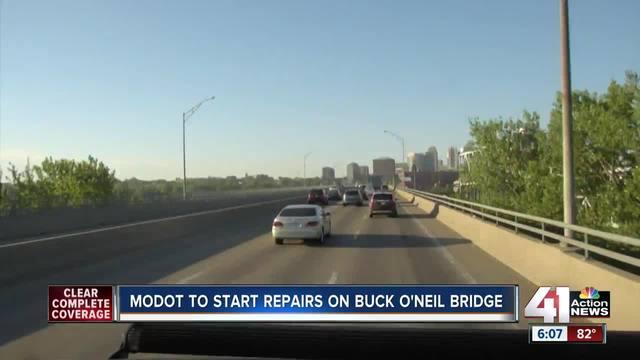 SB lanes of the Buck O-Neil Bridge are closing