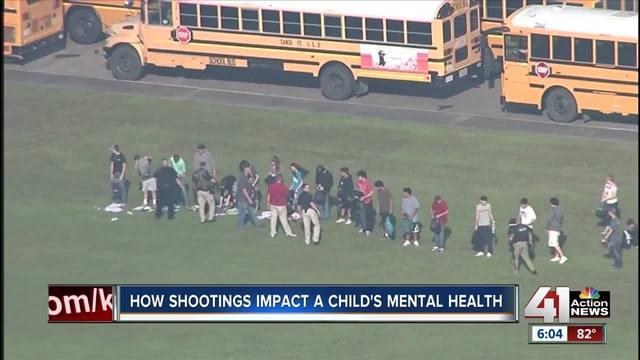 How do shootings impact child-s mental health-