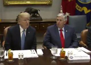 Missouri Gov. Parson meets with Trump, Pence