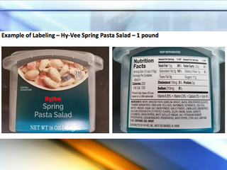 Hy-Vee recalls pasta salad after illnesses