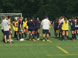 USA Women's U-17 World Cup team training in KCK