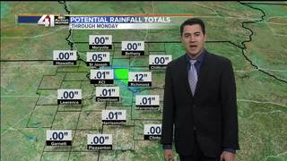 Sunday starts dry but rain will become likely