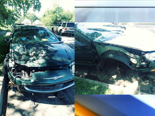 KCMO motorist blames totaled car on city