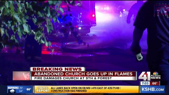 Several Emergency Crews Respond To Large KCMO Church Fire