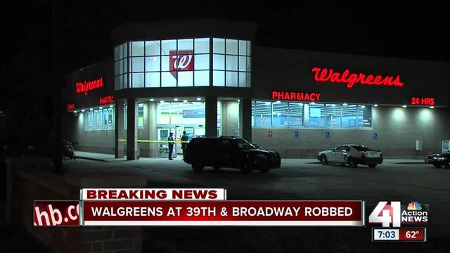 kcpd investigating armed robbery at walgreens on broadway - Walgreens Garden City