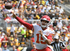QB Mahomes giddy about prospect of home game
