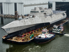 USS Kansas City released into Mobile River