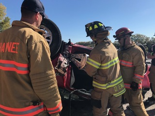 Shawnee FD work 'mock' mass casualty crash