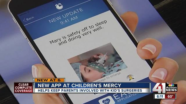 Children-s Mercy using app to update parents