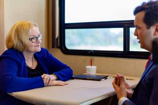 On the road with Sen. Claire McCaskill