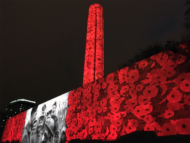 Wwi Memorial To Light Up In Projection Of Poppy Flowers To Begin