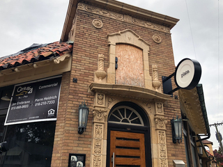 Plate reopening in Brookside 2 years after fire