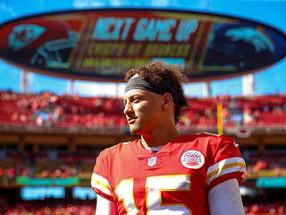Mahomes' girlfriend says stepfather died Sunday