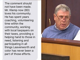 Family supports Klemp, condemns comments