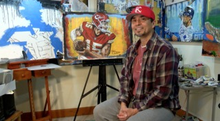 KC artist gets noticed for Mahomes painting