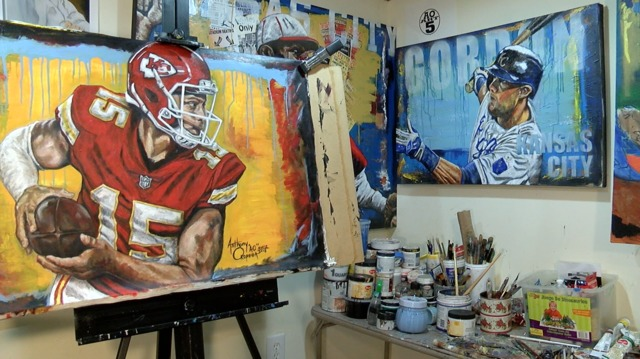 Local Artist Receives National Attention For Patrick Mahomes