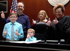 Joy fills courtroom on National Adoption Day