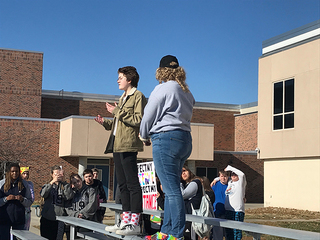 Students rally against gender definition changes