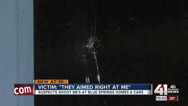 Blue Springs PD- BB gun damages several homes