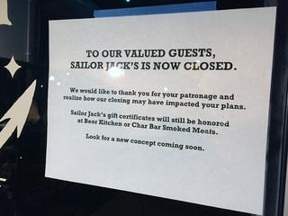 Westport's Sailor Jack's, McCoy's closing