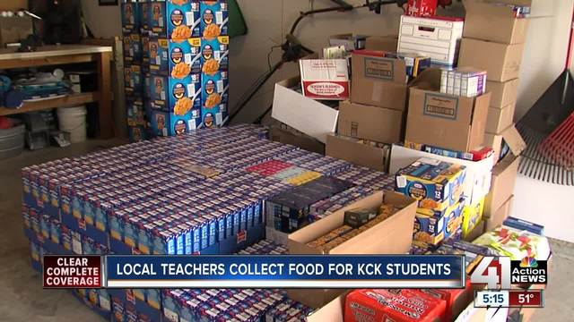 KCK teachers collect thousands of food items for students over winter break